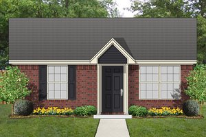 Cottage Exterior - Front Elevation Plan #84-535