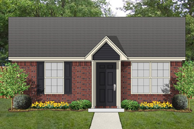 Cottage Exterior - Front Elevation Plan #84-535