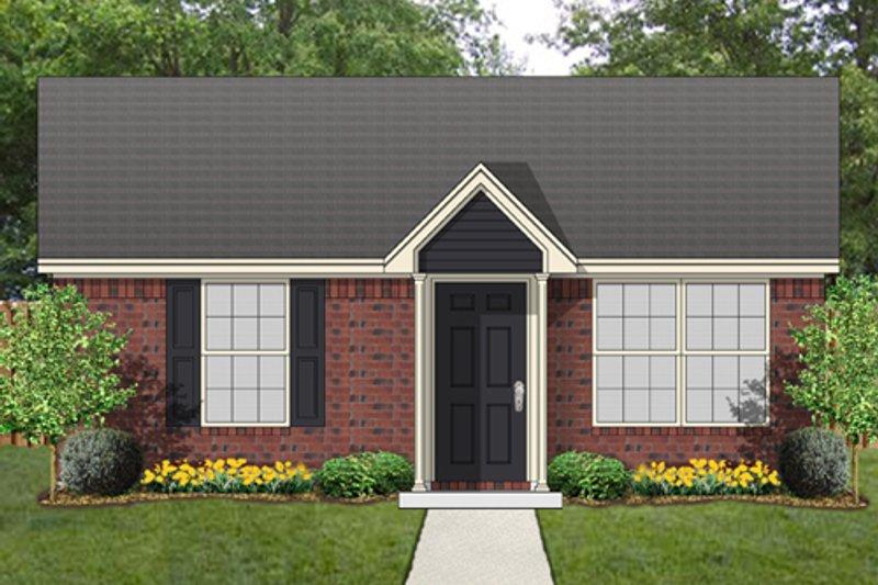 House Plan Design - Cottage Exterior - Front Elevation Plan #84-535