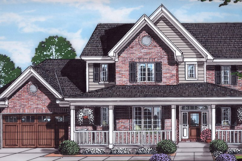House Plan Design - Traditional Exterior - Front Elevation Plan #46-899