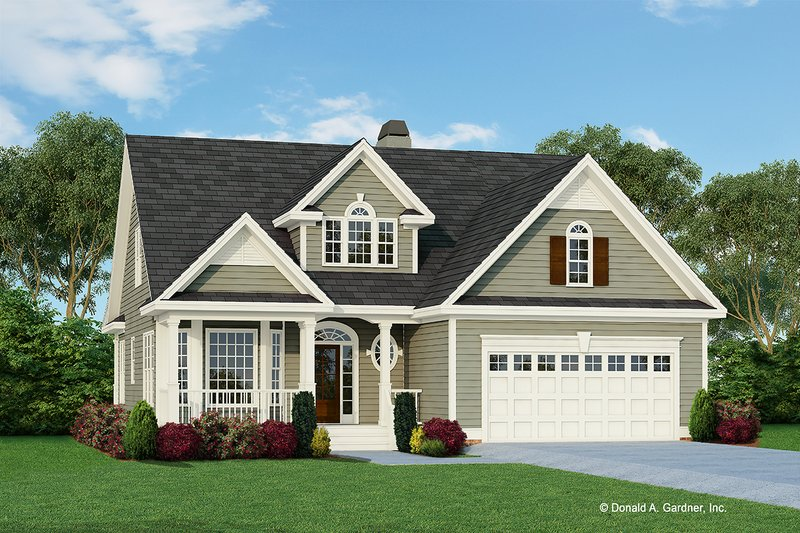 Country Style House Plan - 3 Beds 2.5 Baths 2037 Sq/Ft Plan #929-522 Exterior - Front Elevation