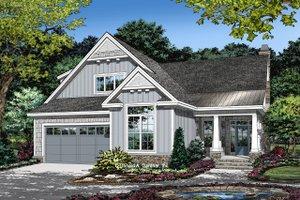 Cottage Exterior - Front Elevation Plan #929-1134