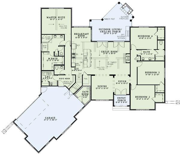European Floor Plan - Main Floor Plan Plan #17-2524