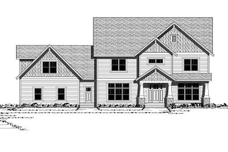 Colonial Style House Plan - 5 Beds 3.5 Baths 4562 Sq/Ft Plan #51-331 Exterior - Front Elevation