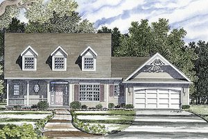 Country Exterior - Front Elevation Plan #316-122