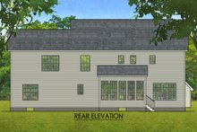 House Plan Design - Colonial Exterior - Rear Elevation Plan #1010-214