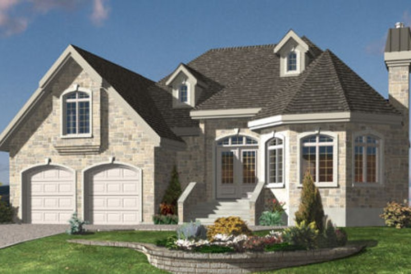 European Style House Plan - 2 Beds 1 Baths 1329 Sq/Ft Plan #138-312 Exterior - Front Elevation