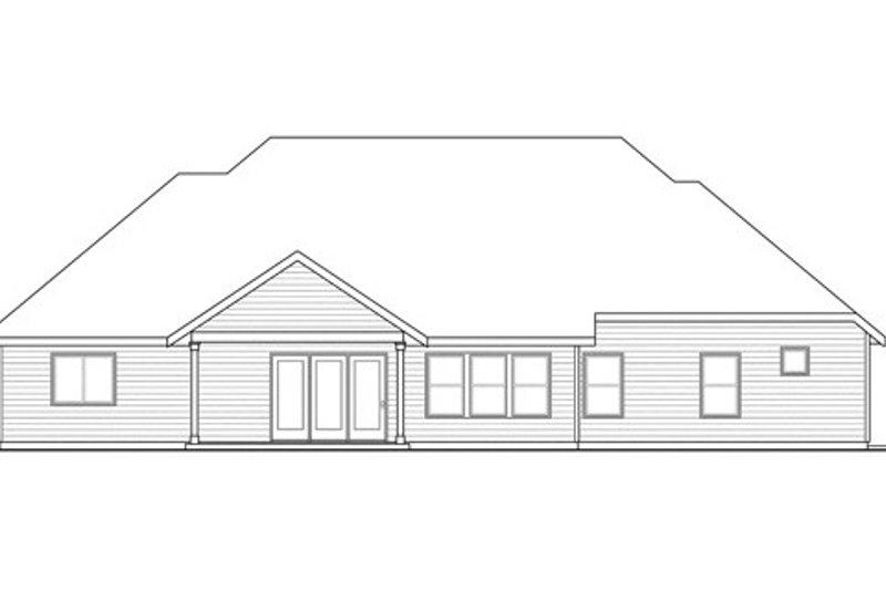 Traditional Exterior - Rear Elevation Plan #124-843 - Houseplans.com