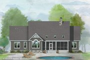 Craftsman Style House Plan - 4 Beds 3 Baths 2277 Sq/Ft Plan #929-1047 Exterior - Rear Elevation