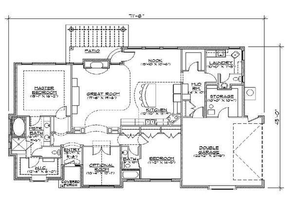 House Plan Design - Traditional Floor Plan - Main Floor Plan #5-274