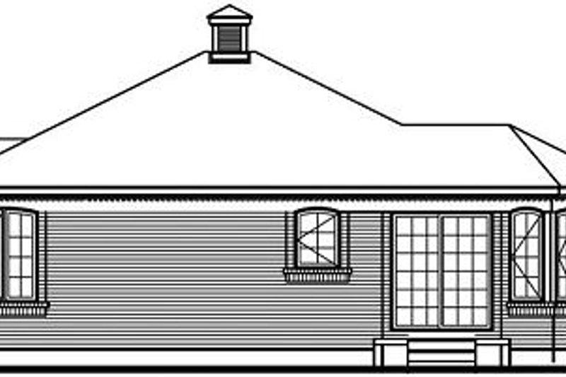 Traditional Exterior - Rear Elevation Plan #23-686 - Houseplans.com
