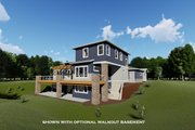 Modern Style House Plan - 4 Beds 3.5 Baths 2779 Sq/Ft Plan #1069-9 Exterior - Rear Elevation