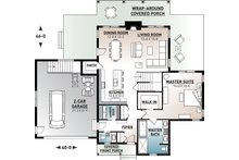 Craftsman Floor Plan - Main Floor Plan Plan #23-2709