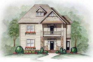 Craftsman Exterior - Front Elevation Plan #54-124