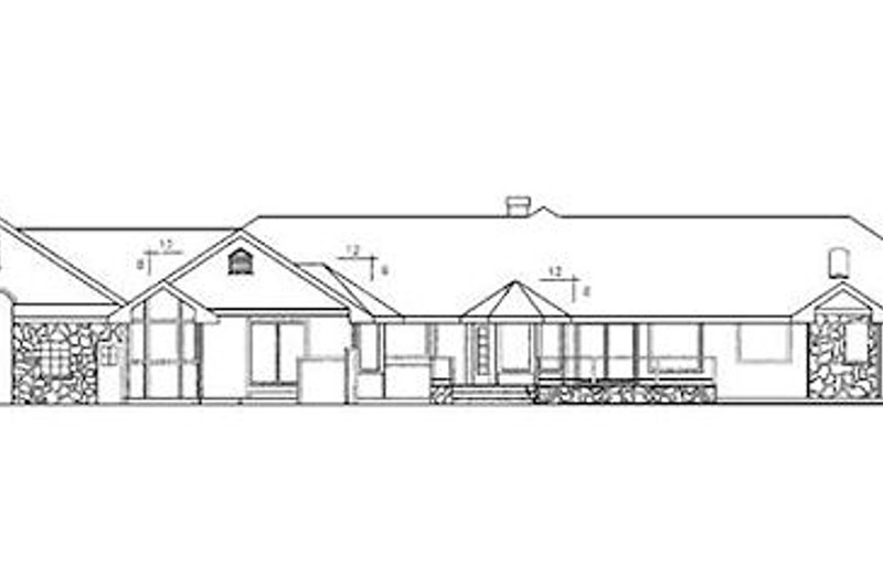 Ranch Exterior - Rear Elevation Plan #60-205 - Houseplans.com
