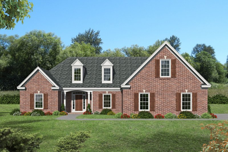 Dream House Plan - Contemporary Exterior - Front Elevation Plan #932-397
