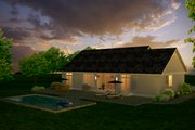 Country Style House Plan - 3 Beds 3 Baths 1863 Sq/Ft Plan #427-10 Exterior - Rear Elevation