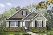 Bungalow Style House Plan - 3 Beds 2 Baths 1800 Sq/Ft Plan #50-126 Exterior - Front Elevation