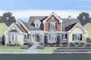 Country Exterior - Front Elevation Plan #46-428