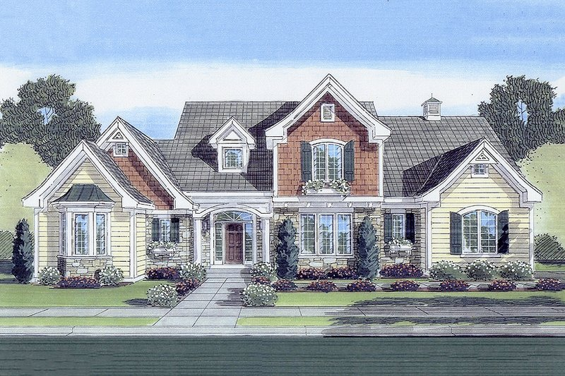 Country Exterior - Front Elevation Plan #46-428 - Houseplans.com