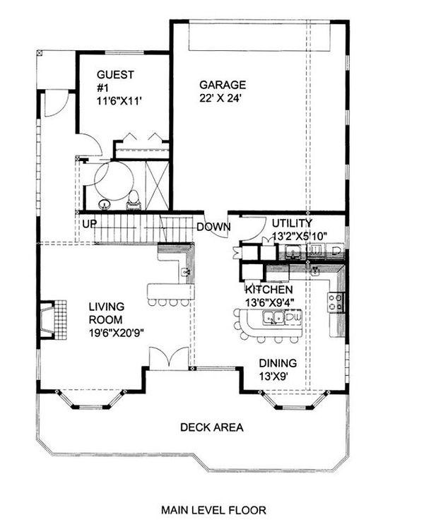 Country Floor Plan - Main Floor Plan #117-808