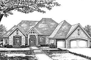 European Exterior - Front Elevation Plan #310-845