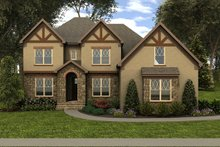 Dream House Plan - Tudor Exterior - Front Elevation Plan #413-887