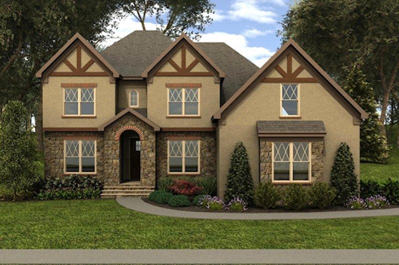 Dream House Plan - Tudor Exterior - Front Elevation Plan #413-887