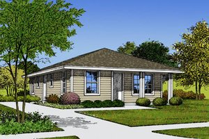 Ranch Exterior - Front Elevation Plan #417-102