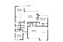 Contemporary Floor Plan - Main Floor Plan Plan #48-1005