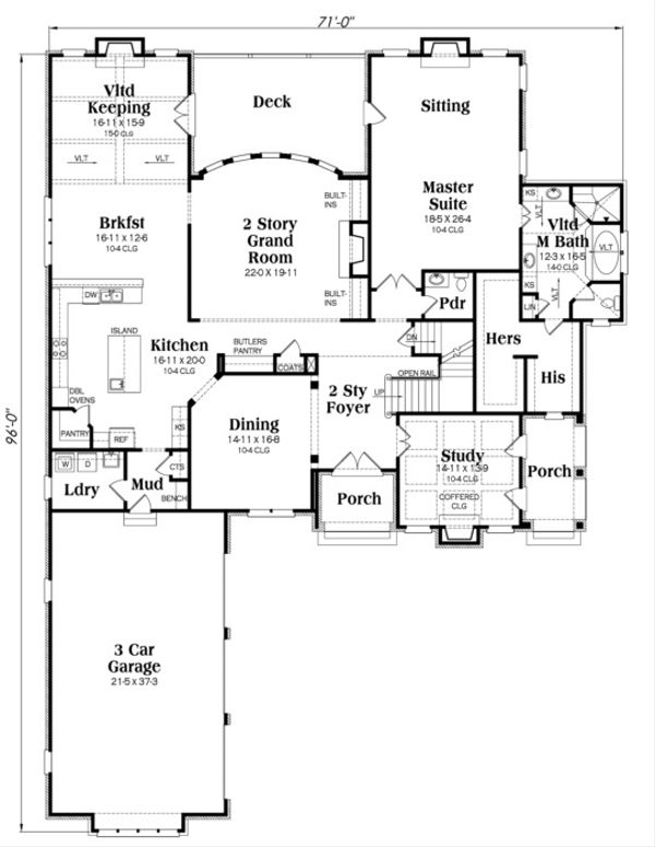 European Floor Plan - Main Floor Plan Plan #419-242