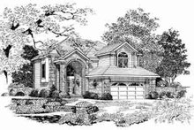 House Blueprint - Traditional Exterior - Front Elevation Plan #72-342