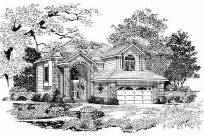 Traditional Exterior - Front Elevation Plan #72-342 - Houseplans.com