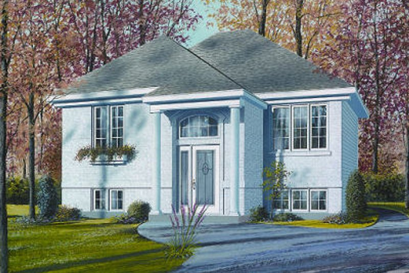 European Exterior - Front Elevation Plan #23-705