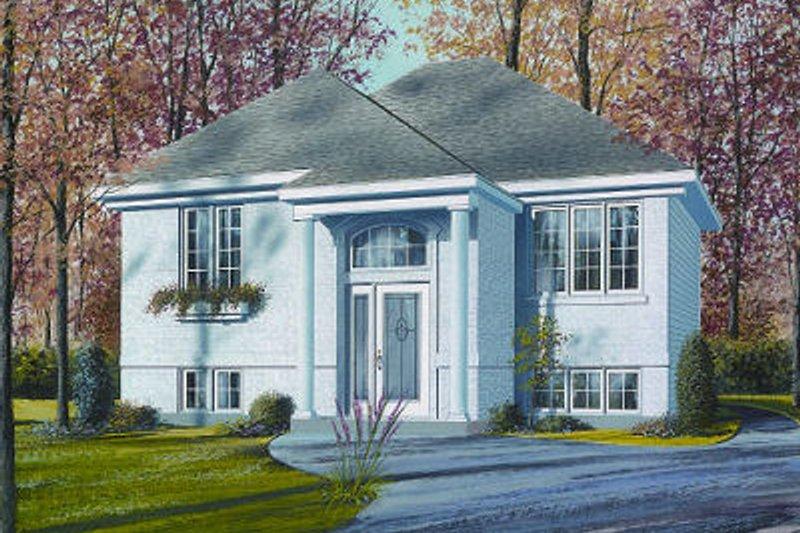 Architectural House Design - European Exterior - Front Elevation Plan #23-705