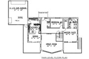 Contemporary Style House Plan - 3 Beds 2.5 Baths 3820 Sq/Ft Plan #117-519 Floor Plan - Main Floor Plan