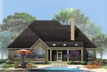 European Exterior - Rear Elevation Plan #929-27