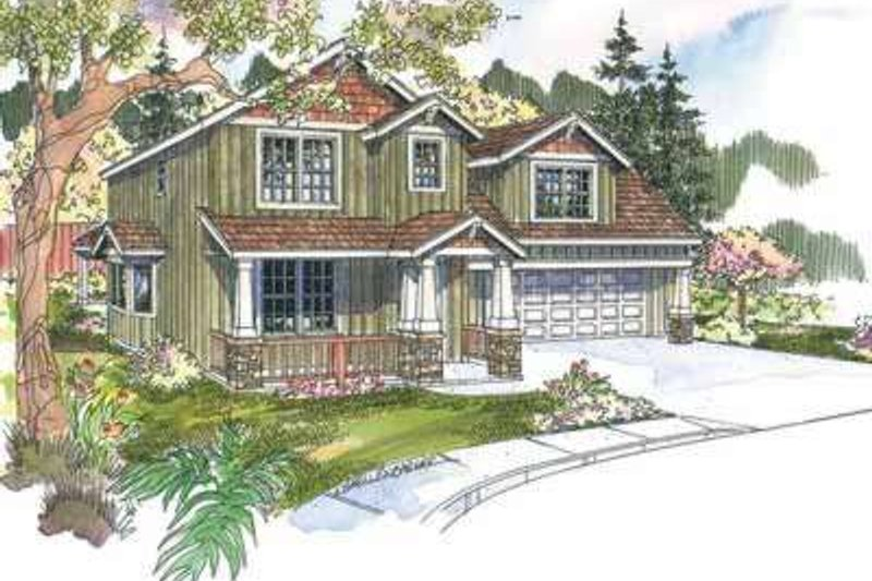 Craftsman Exterior - Front Elevation Plan #124-612