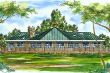 Country Exterior - Front Elevation Plan #124-169