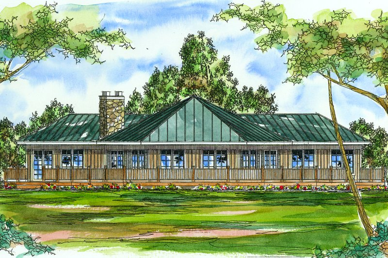 Dream House Plan - Country Exterior - Front Elevation Plan #124-169