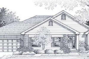 Traditional Exterior - Front Elevation Plan #53-145