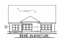 Craftsman Exterior - Rear Elevation Plan #20-2316