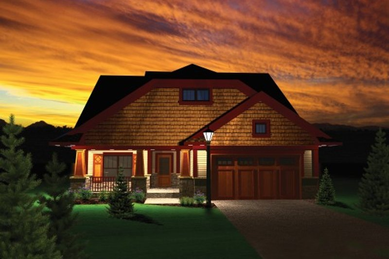 Exterior - Front Elevation Plan #70-1105 - Houseplans.com