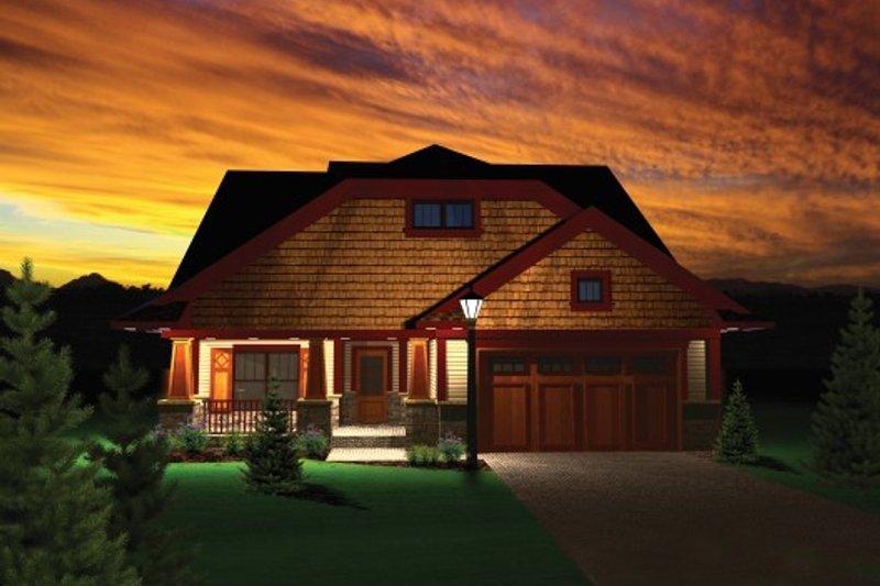 Dream House Plan - Exterior - Front Elevation Plan #70-1105
