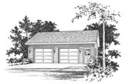 Traditional Style House Plan - 0 Beds 0 Baths 900 Sq/Ft Plan #22-411 Exterior - Front Elevation