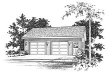 Home Plan - Traditional Exterior - Front Elevation Plan #22-411