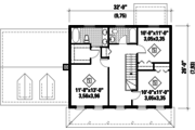 Colonial Style House Plan - 3 Beds 2 Baths 1718 Sq/Ft Plan #25-4678 Floor Plan - Upper Floor Plan