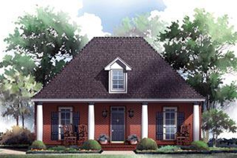 Southern Exterior - Front Elevation Plan #21-229 - Houseplans.com