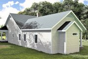Southern Style House Plan - 3 Beds 2.5 Baths 2159 Sq/Ft Plan #44-237 Exterior - Rear Elevation