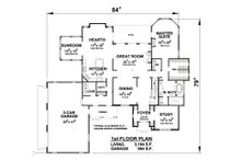 European Floor Plan - Main Floor Plan Plan #20-2203